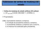 subclasses de verbos de mudan a de estado