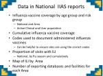 data in national iias reports