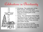 celebrations in christianity