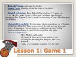 lesson 1 game 1