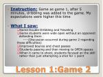 lesson 1 game 2