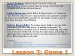 lesson 2 game 1