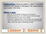 lesson 2 game 2