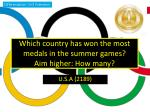 which country has won the most medals in the summer games aim higher how many
