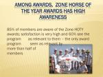 among awards zone horse of the year awards has high awareness