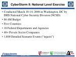 cyberstorm ii national level exercise