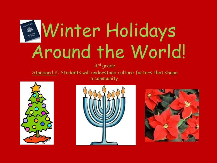 winter holidays around the world n.