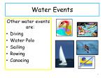 water events