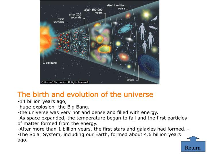 The birth and evolution of the universe