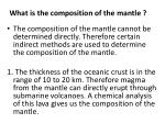what is the composition of the mantle
