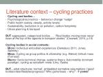 literature context cycling practices