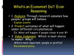 what s an economist do econ reasoning