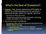 what s the goal of economics