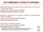 2012 amerique latine et caraibes
