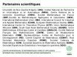 partenaires scientifiques