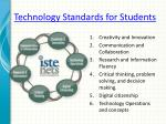 technology standards for students