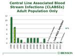 central line associated blood stream infections clabsis adult population only