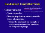 randomized controlled trials