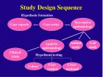 study design sequence