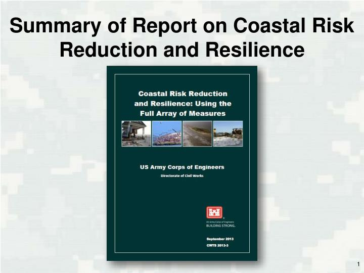 summary of report on coastal risk reduction and resilience n.