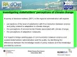 investigating stakeholders perceptions of climate change and adaptation