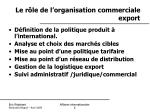 le r le de l organisation commerciale export1