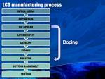 lcd manufacturing process