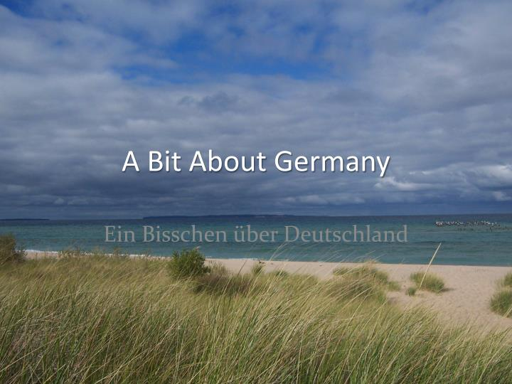 a bit about germany n.
