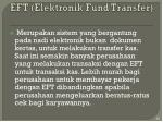 eft elektronik fund transfer