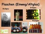 flaschen einweg altglas