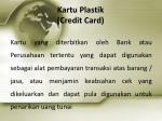 kartu plastik credit card