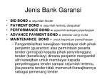 jenis bank garansi