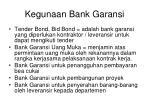 kegunaan bank garansi