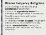 relative frequency histograms1