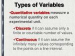 types of variables2