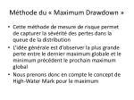 m thode du maximum d rawdown