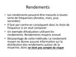 rendements
