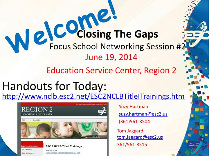 closing the gaps focus school networking session 2 n.