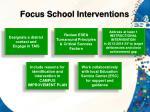 focus school interventions