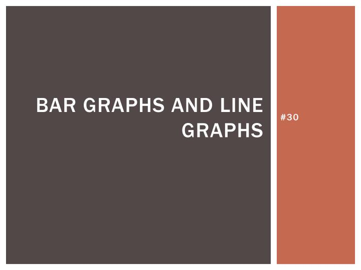 bar graphs and line graphs n.