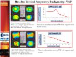 results vertical assymetry pachymetry vap