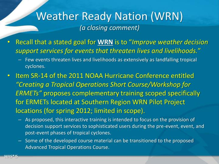 Weather Ready Nation (WRN)
