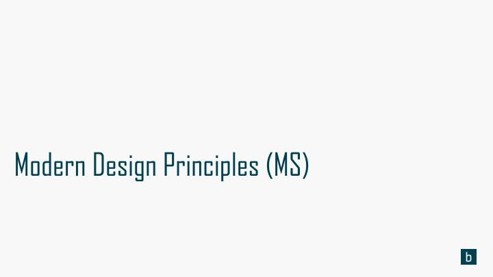 modern design principles ms n.