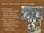 china revolution and change