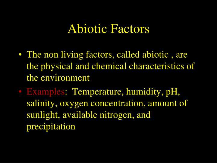 Abiotic
