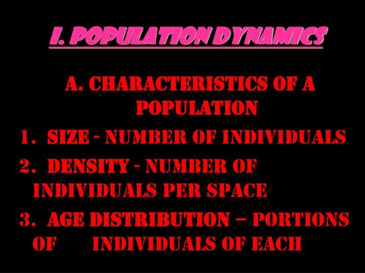 I. Population Dynamics
