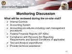 monitoring discussion2