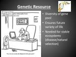 genetic resource