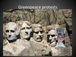 greenpeace protests