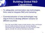 building global r d capabilities